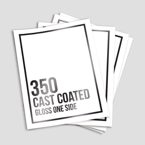 350 Cast Coated Artboard Gloss One Side