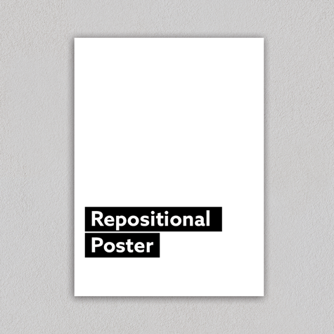Repositional Poster